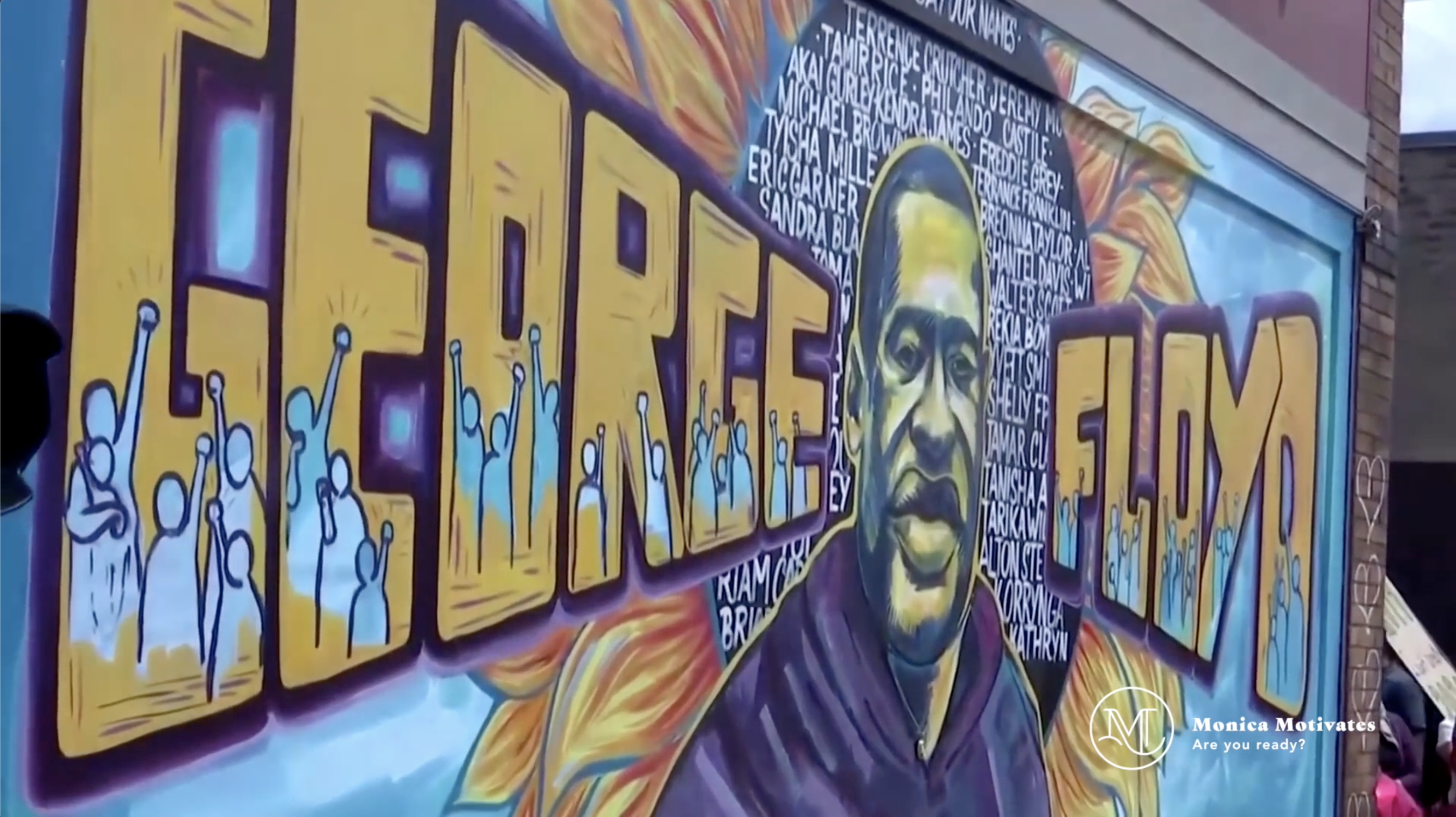 George-floyd-mural-honor-monica-motivates