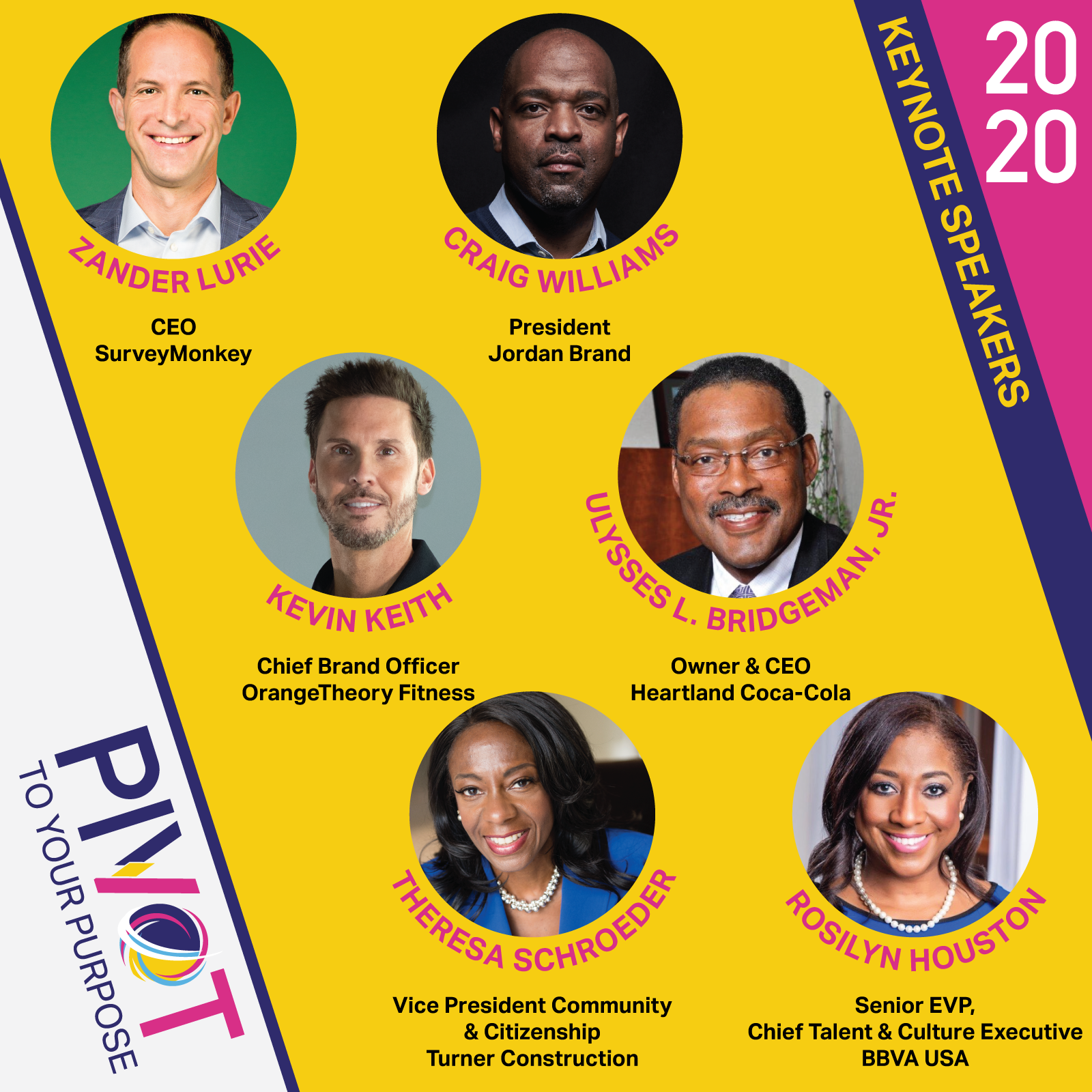 pivot to your purpose key not speakers 2020 event