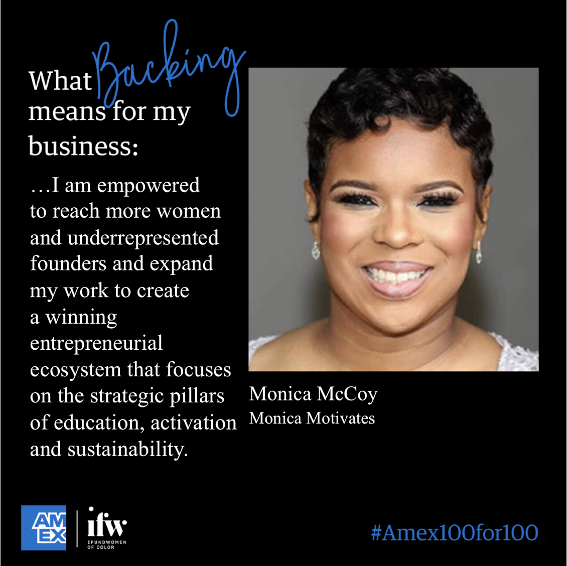AMX100for100-Monica McCoy